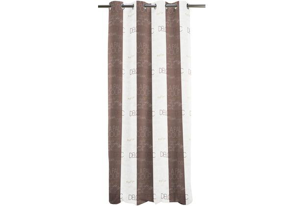 APELT Loft Style Ösenschal bran/weiß 140x245