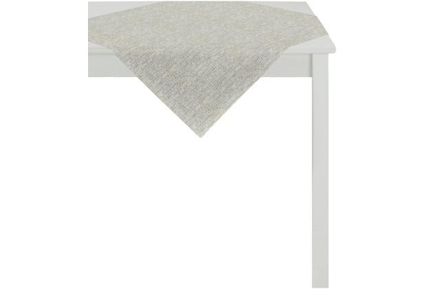 APELT Loft Style Tischdecke leinen 85x85, Schuppenmuster