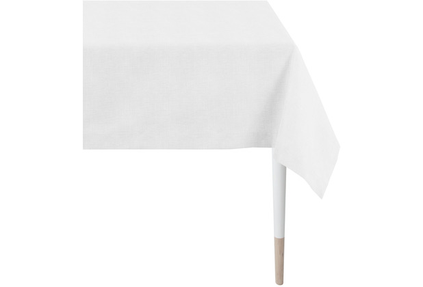 APELT Loft Style Tischdecke Uni weiß / silber 100x100 cm