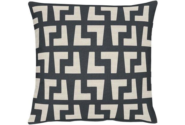 APELT Miami Easy elegance Kissenhülle grau-schwarz 46 cm x 46 cm
