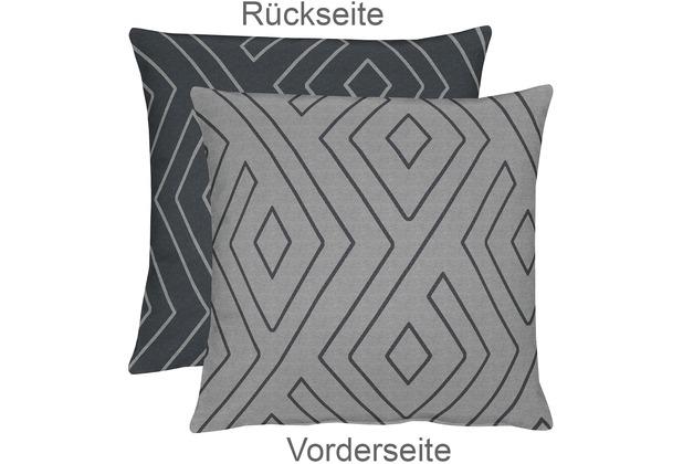 APELT Mistral Easy elegance Kissenhülle grau 46 cm x 46 cm