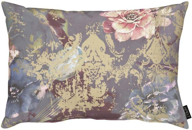 APELT Modern Luxury Kissen beere / taupe / rose 40x60 cm