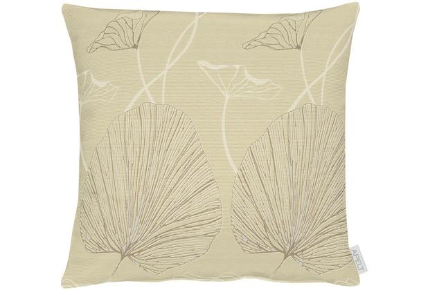 APELT Modern Luxury Kissen beige 45x45 cm, Pflanzenmuster