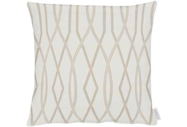 APELT Modern Luxury Kissen beige 45x45 cm, Streifenmuster