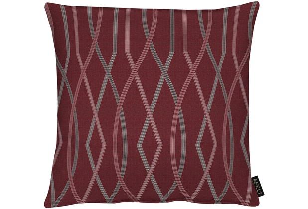 APELT Modern Luxury Kissen bordeaux 45x45 cm, Streifenmuster