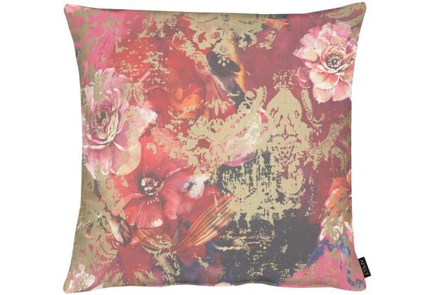 APELT Modern Luxury Kissen rot / bordeaux 65x65 cm