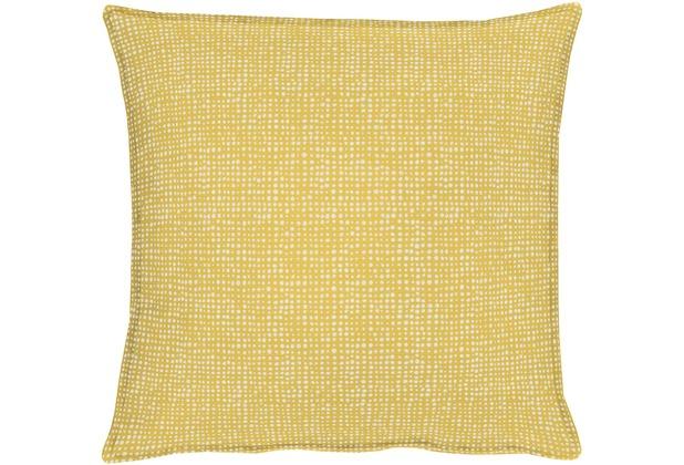 APELT OUTDOOR Kissen gelb 39x39, Punktemuster