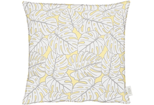 APELT OUTDOOR Kissen gelb 48x48, Pflanzenmuster