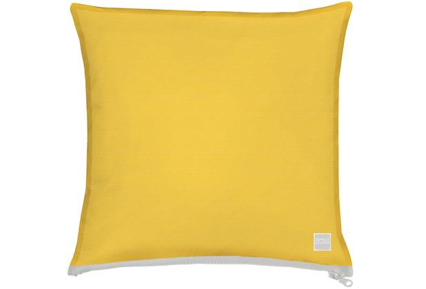 APELT Outdoor Kissenhülle gelb, schlicht 40x40 cm