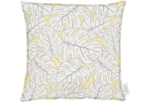 APELT OUTDOOR Kissenhülle gelb 40x40, Pflanzenmuster