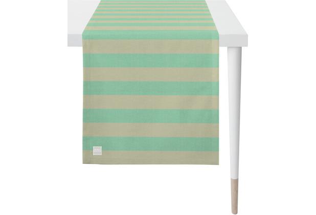APELT Outdoor Läufer türkis/stein 46x140 cm