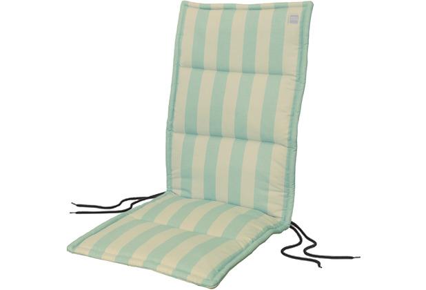 APELT Outdoor Sitzauflage türkis/stein 50x120 cm, Streifen