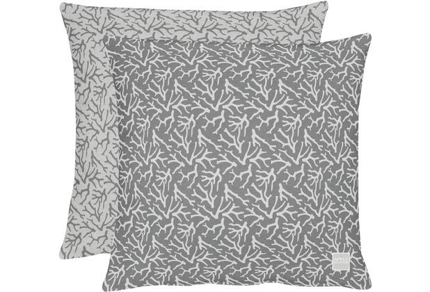 APELT Outdoor Wendekissenhülle grau/stein 46x46 cm, Stockmuster