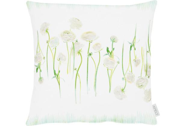 APELT Springtime Kissen weiß/grün 45x45 cm