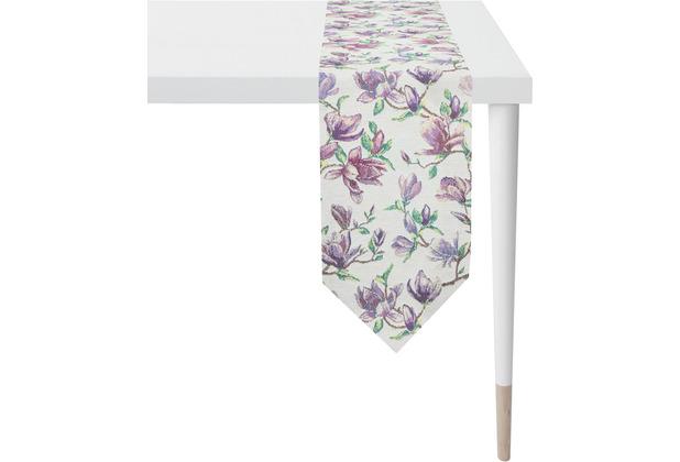 APELT Springtime Tischband flieder/ lila 21x175 cm