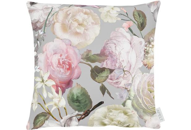 APELT Summer Garden Kissen grau / rose 39x39 cm