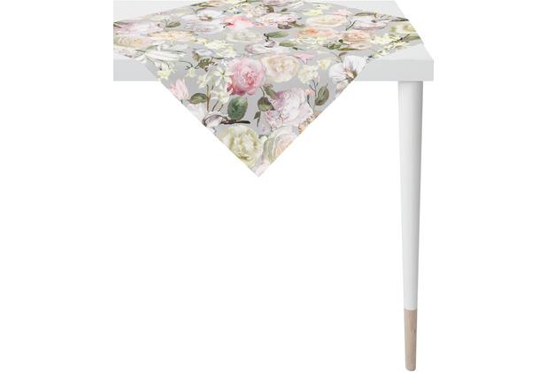 APELT Summer Garden Tischdecke grau / rose 85x85 cm