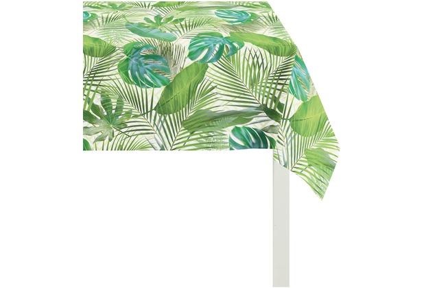 APELT Summer Garden Tischdecke grün 100x100, Pflanzen