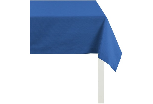 APELT Tischdecke Uni Basic, blau 100 cm x 100 cm
