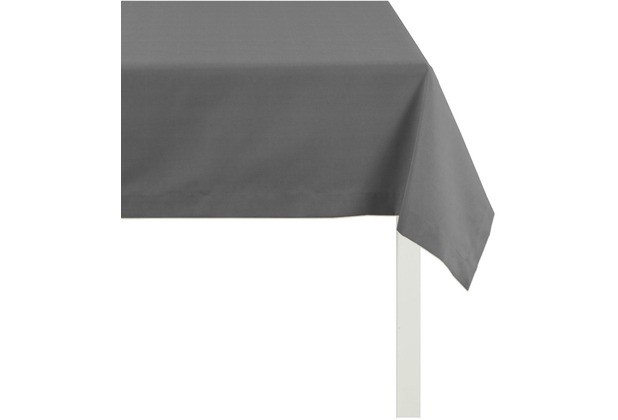 APELT Tischdecke Uni Basic, dunkelgrau 100 cm x 100 cm
