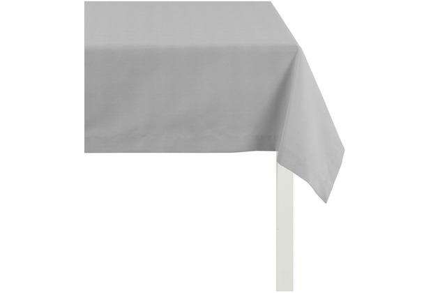 APELT Tischdecke Uni Basic, hellgrau 100 cm x 100 cm