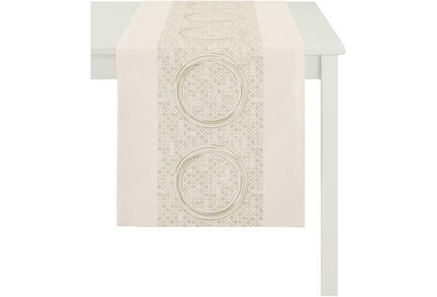 APELT Tischläufer Loft Style, beige 48 cm x 140 cm, Kreismuster