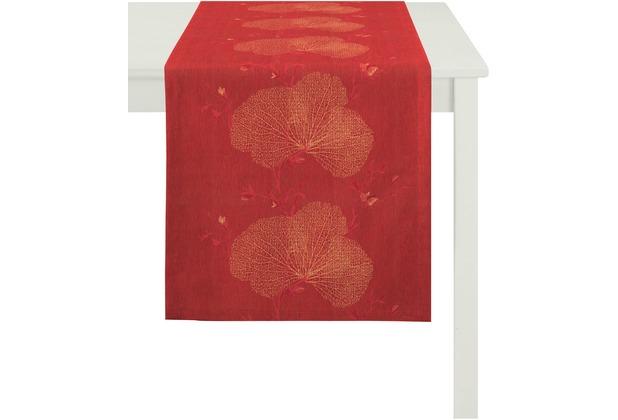 APELT Tischläufer Loft Style, rot 48 cm x 140 cm, Pflanzenmuster