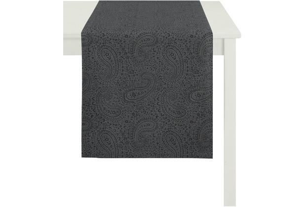 APELT Tischläufer Uni Basic, anthrazit 48 cm x 140 cm