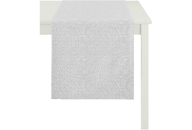 APELT Tischläufer Uni Basic, hellgrau 48 cm x 140 cm