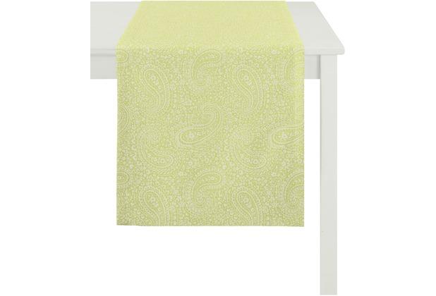 APELT Tischläufer Uni Basic, hellgrün 48 cm x 140 cm