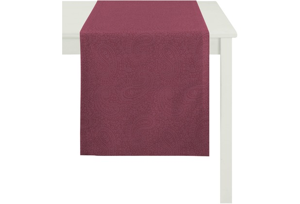 APELT Tischläufer Uni Basic, lila 48 cm x 140 cm