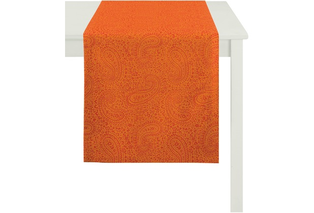 APELT Tischläufer Uni Basic, orange 48 cm x 140 cm