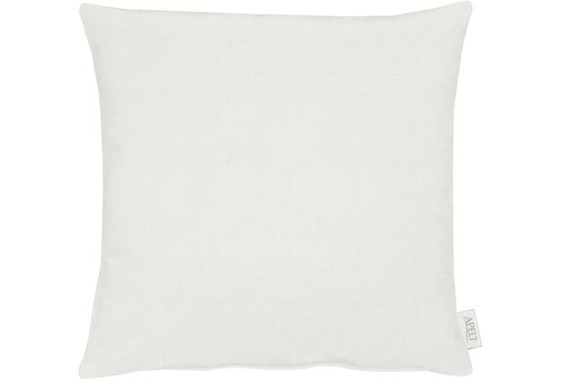 APELT Uni-Basic Kissen weiß/grau 45x45
