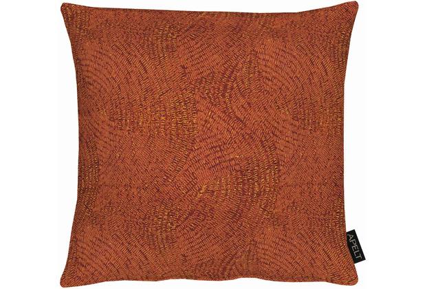 APELT Uni-Basic Kissenhülle allover Muster terracotta 40x40 cm