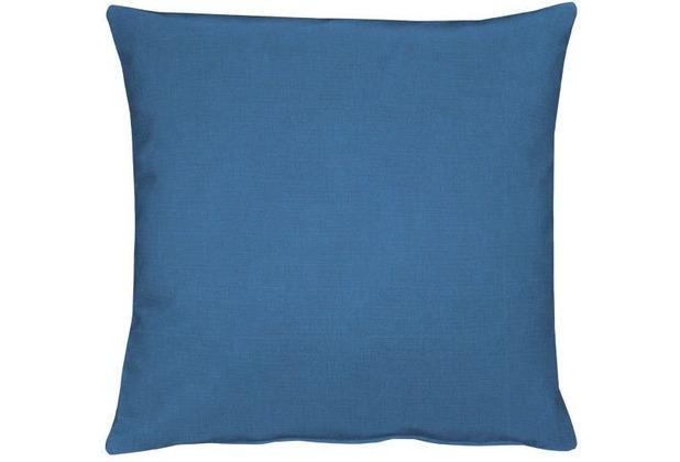 APELT Uni-Basic Kissenhülle blau 40x40