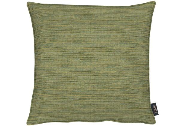 APELT Uni-Basic Kissenhülle grün 46x46, gestreift