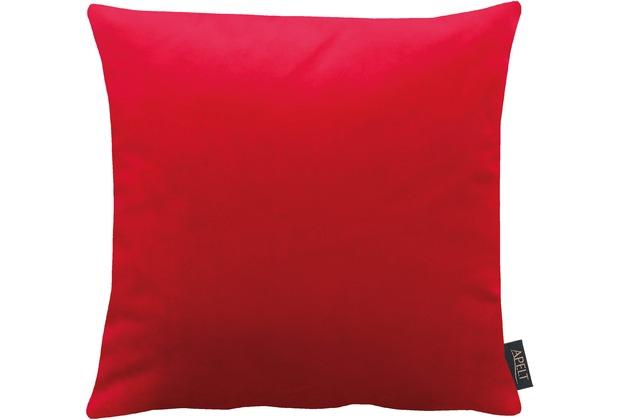 APELT Uni-Basic Kissenhülle rot 46x46