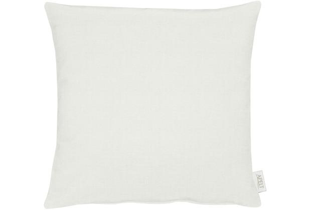 APELT Uni-Basic Kissenhülle weiß/grau 46x46