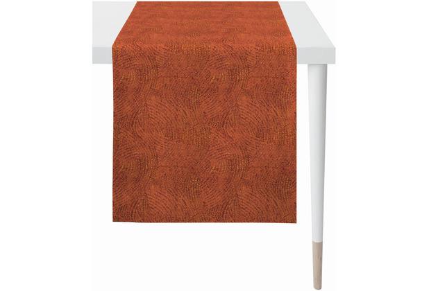 APELT Uni-Basic Läufer allover Muster terracotta 48x140 cm