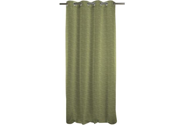 APELT Uni-Basic Ösenschal grün 135x245 dunkel