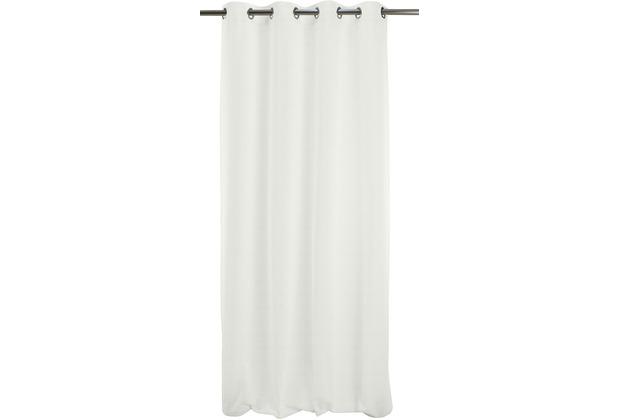 APELT Uni-Basic Ösenschal weiß/grau 135x245