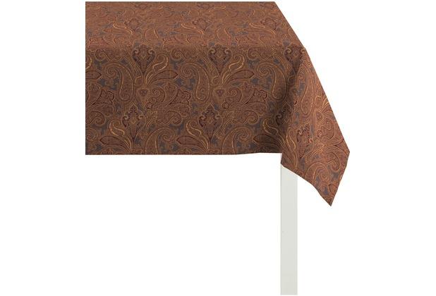 APELT Uni-Basic Tischdecke braun/rost 150x250