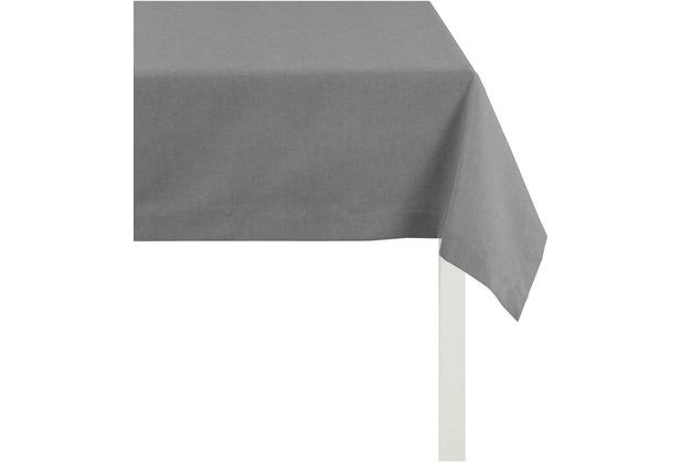 APELT Uni-Basic Tischdecke dunkelgrau r170x170