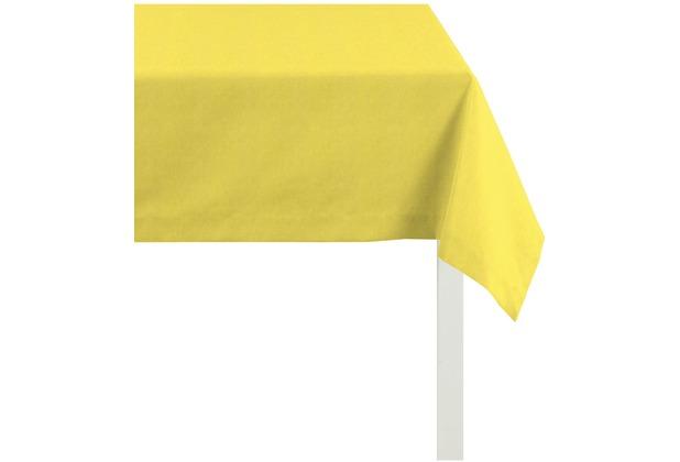 APELT Uni-Basic Tischdecke gelb r170x170