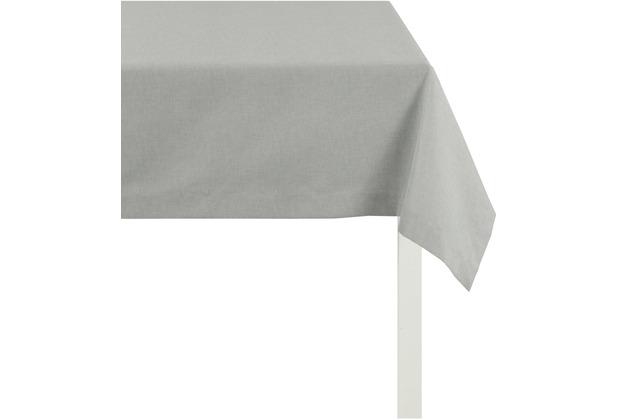 APELT Uni-Basic Tischdecke grau 140x250