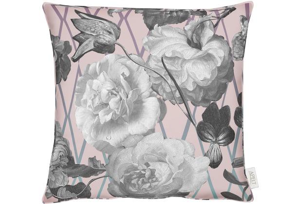 APELT UNIQUE Kissen rose / grau 45x45