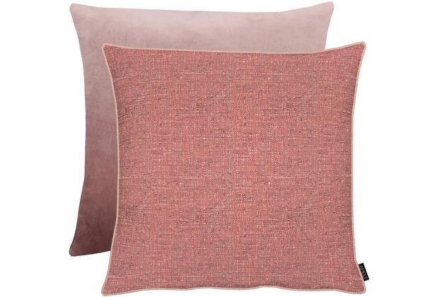 APELT Unique Kissen Vorderseite: rosa - Rückseite: Uni zartes rose 65x65 cm