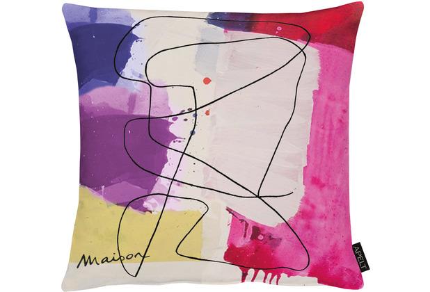 APELT UNIQUE Kissenhülle bunt / multi 46x46 cm, abstrakt