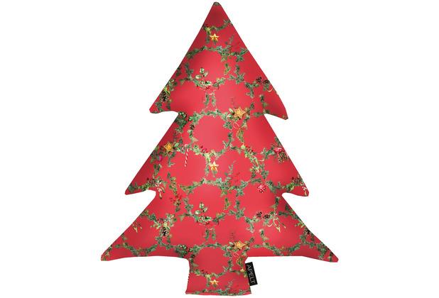 APELT Winterwelt Baumkissen Christmas-all-over rot / grün 37x50 cm