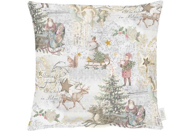 APELT Winterwelt Kissen creme/pastell/bunt 48x48